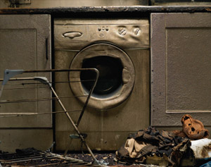 fire damage from a dryer in a pasa robles home